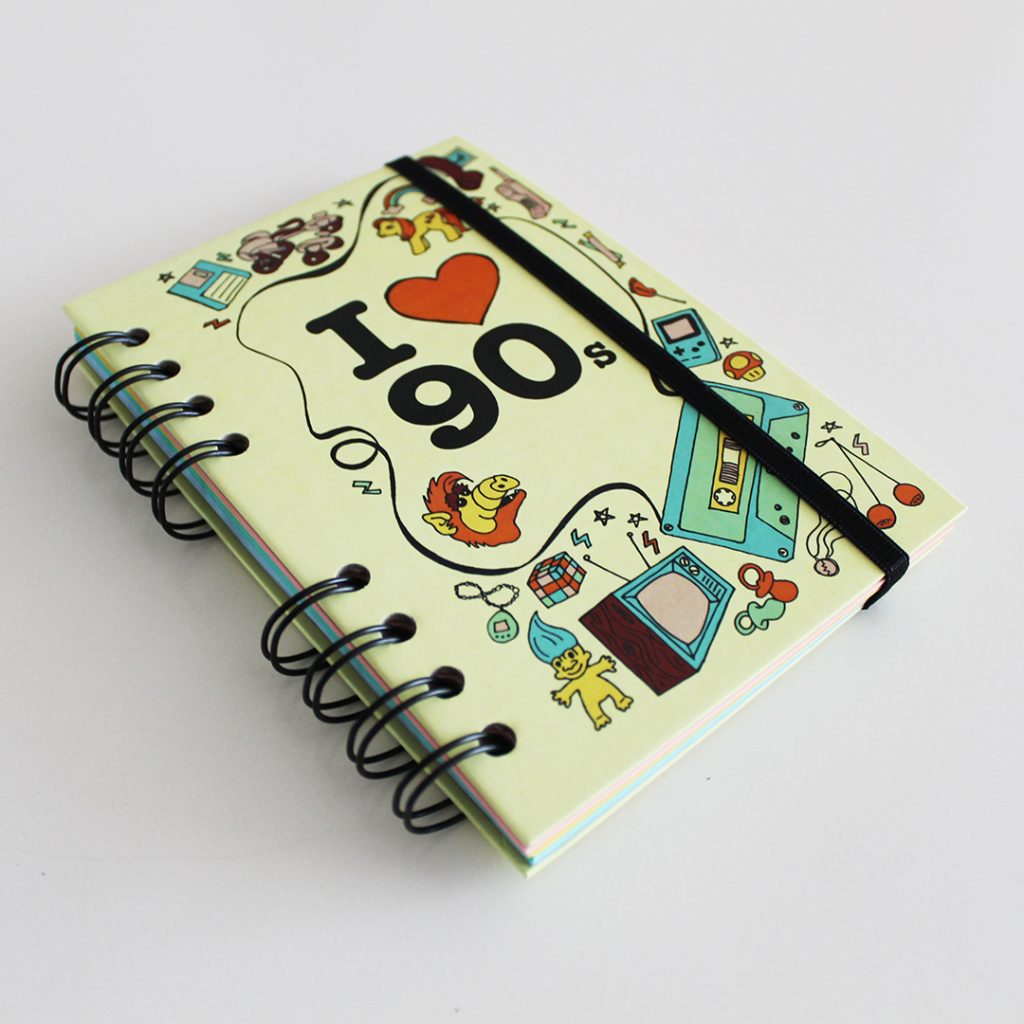 90s, cuaderno