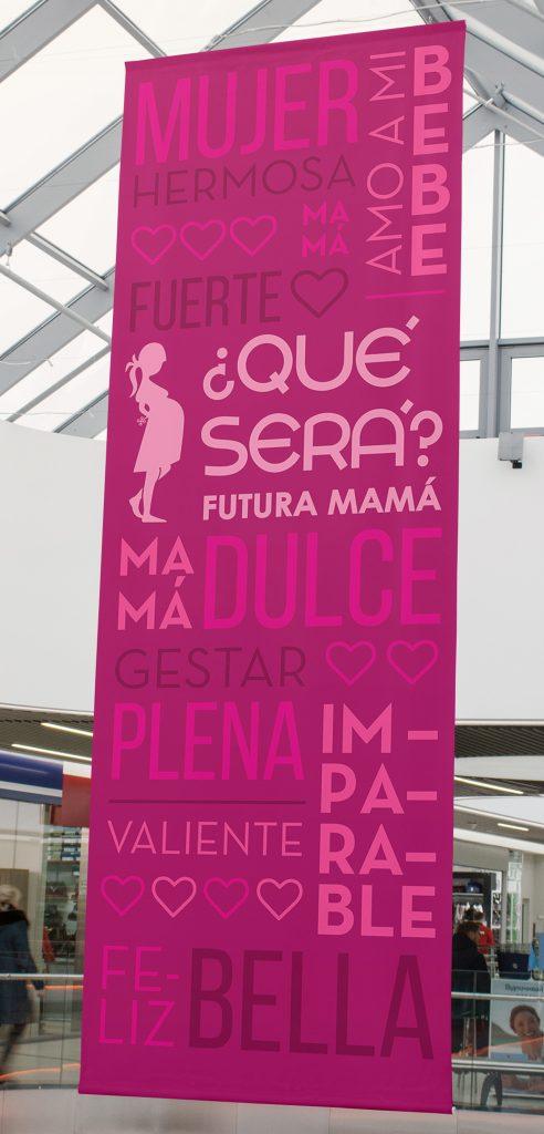 ¿Qué será? Futura mamá, banner institucional.
